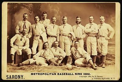 Metropolitan Baseball Nine Team In 1882 Print by Bill Cannon