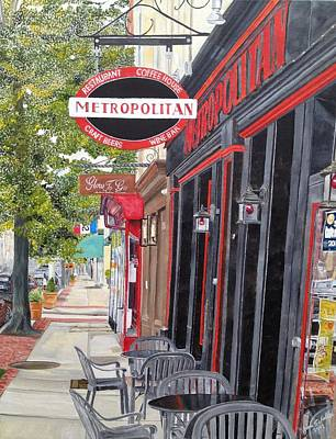 Painting - Metropolitan Cafe by John Schuller