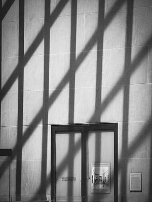 Metropolitan Museum Of Art Photograph - Metropolitan Museum Of Art - Minimalist Black-and-white by Jon Woodhams