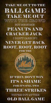 Mets Peanuts And Cracker Jack  Art Print