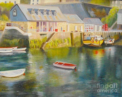 Painting - Mevagissey Harbour Cornwall by Beatrice Cloake