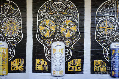 Photograph - Mexican Beer Cans Posters by John  Mitchell
