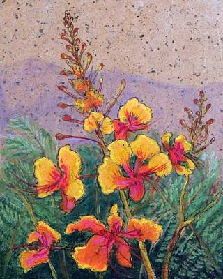 Mexican Landscape Painting - Mexican Bird Of Paradise by Candy Mayer