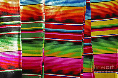 Photograph - Mexican Blankets Cancun by John  Mitchell