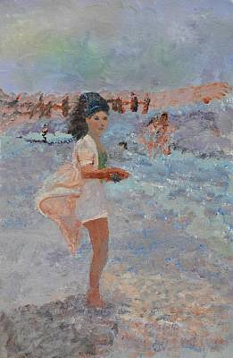 Ability Painting - Mexican Bobbie   Mom At The Beach by Jill Jacobs