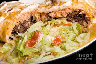 Photograph - Mexican Burrito Plate by James BO Insogna