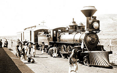 Train Station Drawing - Mexican Central Railway Train At Station, Mexico, Jackson by Litz Collection