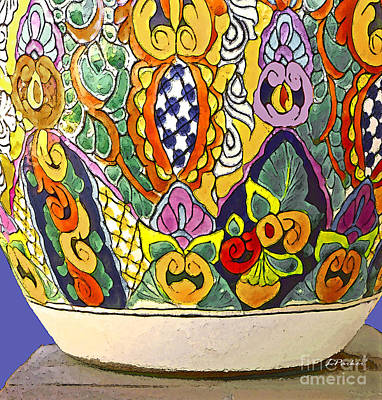 Mexican Ceramic Pottery Art Print by Linda  Parker
