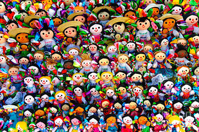 Hand Made Photograph - Mexican Dolls by John Shaw