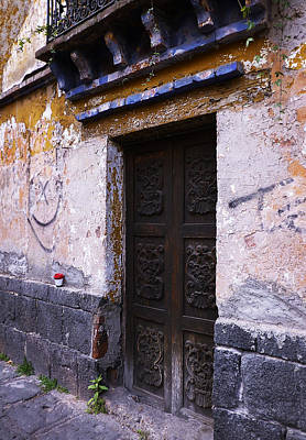 Photograph - Mexican Door 34 by Xueling Zou