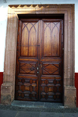 Photograph - Mexican Door 62 by Xueling Zou
