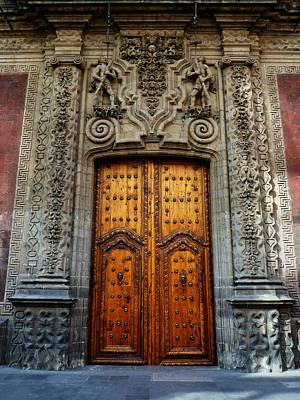 Photograph - Mexican Door 66 by Xueling Zou