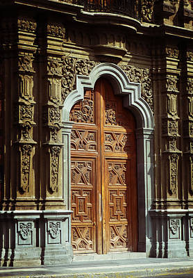Photograph - Mexican Door 69 by Xueling Zou