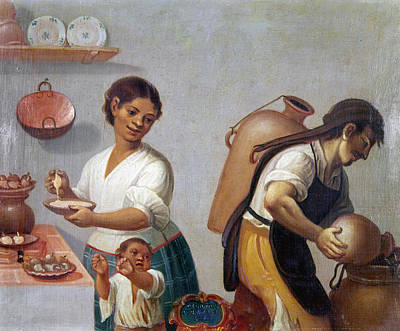 Colonial Man Painting - Mexican Family, 1775 by Granger
