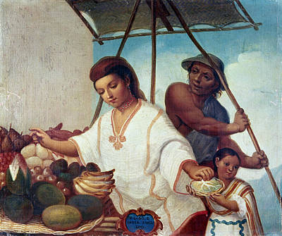American Indian Children Painting - Mexican Family, C1775 by Granger