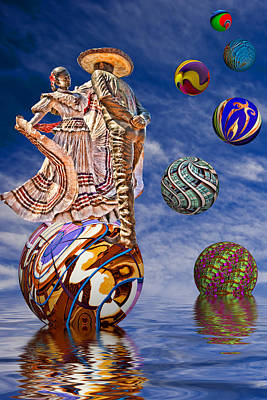 Mexican Folk Dance Digital Art - Mexican Fantasy by Maria Coulson