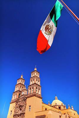 Mexican Flag, Parroquia Catedral Art Print