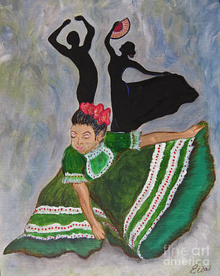 Black History Painting - Mexican Hat Dance by Ella Kaye Dickey