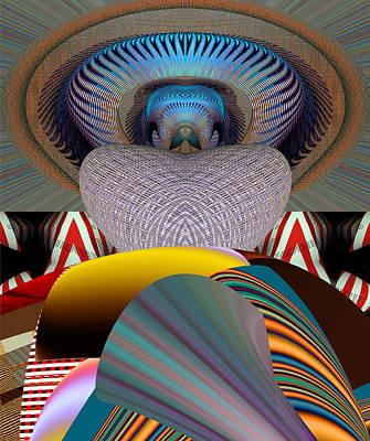 Reconstruction Digital Art - Mexican Hat Dance by Rick Wolfryd