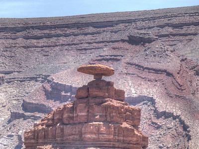 Mexican Hat Rock Art Print by Sanda Kateley