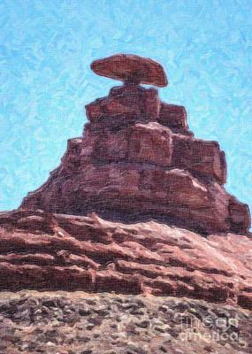 Mexican Hat Utah Usa Art Print by Liz Leyden