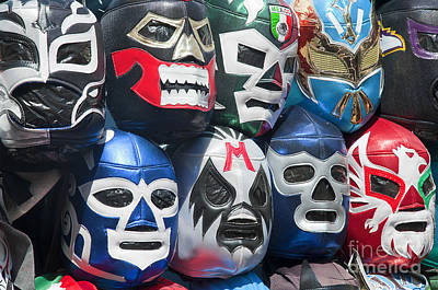 Mexican Head Masks Art Print