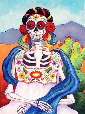 Calavera Painting - Mexican Mona Lisa by Candy Mayer