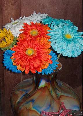 Photograph - Mexican Paper Flowers by Michael Flood