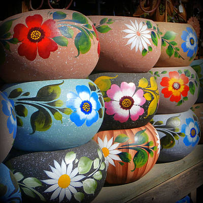 Mexican Pottery In Old Town Art Print