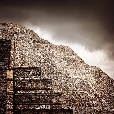Maya Civilization Photograph - Mexican Pyramid by Anna Om