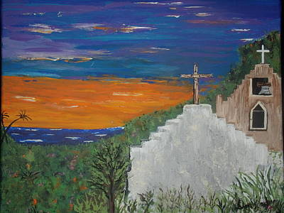 Painting - Mexican Seaside Church by Daniel Nadeau