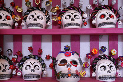 Photograph - Mexican Skulls by John  Mitchell