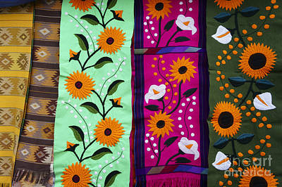 Movies Star Paintings - Mexican Table Runners Cancun by John  Mitchell