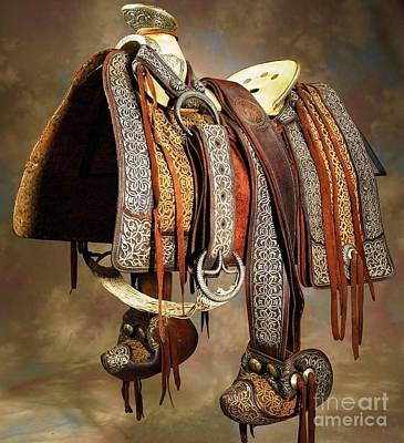 Photograph - Mexican Vaquero Saddle by Roberto Prusso