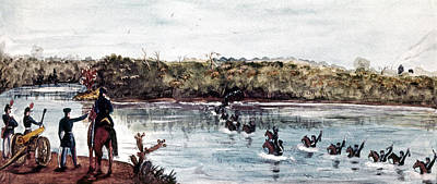 Rio Grande Painting - Mexican War Rio Grande by Granger