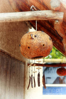 Photograph - Mexican Wind Chime Lamp by Charline Xia