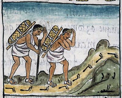 Mexico Aztec Merchants Art Print