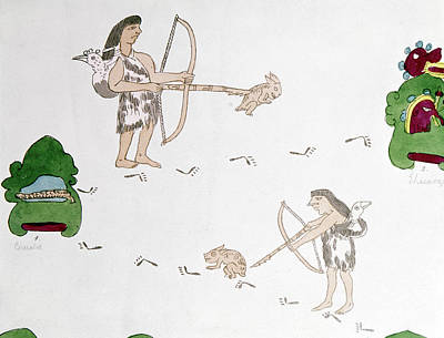 Mexico Aztecs Hunting Art Print