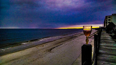 Photograph - Mexico Beach Wine Time by Jeff Kurtz