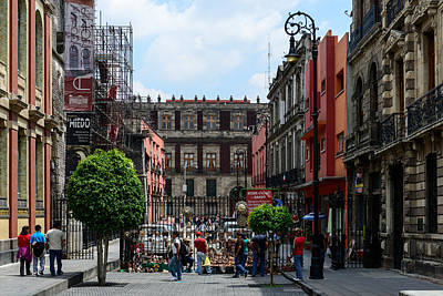 Photograph - Mexico City Historic Buildings by Marek Poplawski