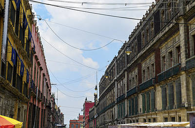 Photograph - Mexico City Old Colonial Buildings by Marek Poplawski