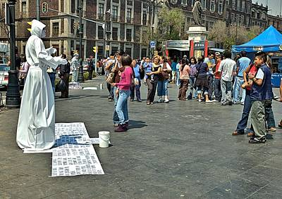 Photograph - Mexico City Plaza De La Constitucion by Steven Richman