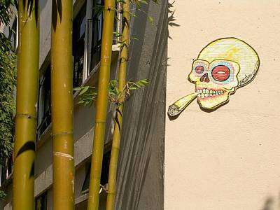 Pop Art Photograph - Mexico City Smoking Skull by Kate Duffield