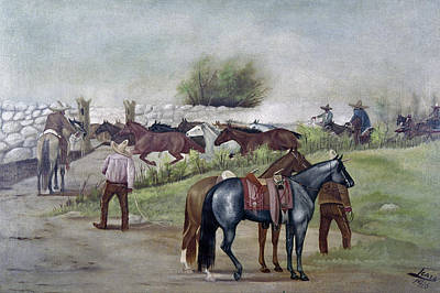Mesoamerican Painting - Mexico Cowboys, 1916 by Granger