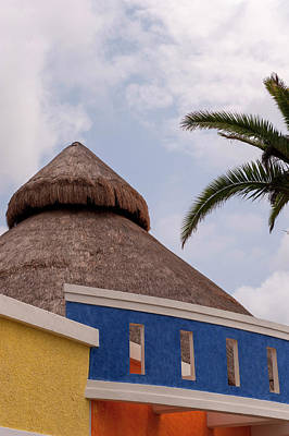 Cozumel Wall Art - Photograph - Mexico, Cozumel, Thatched Roof Store by Lisa S. Engelbrecht