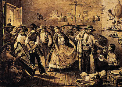 Drawing - Mexico Daily Life, C1855 by Granger