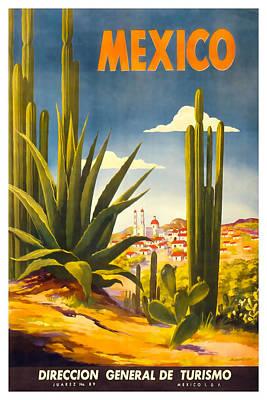 David Wagner Mixed Media - Mexico Direccion General De Turismo by David Wagner