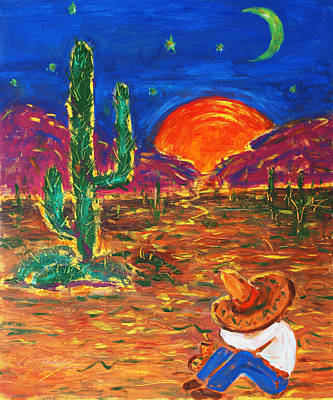 Painting - Mexico Impression IIi by Xueling Zou