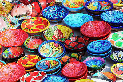 Grate Photograph - Mexico, Jalisco Bowls For Sale by Jaynes Gallery