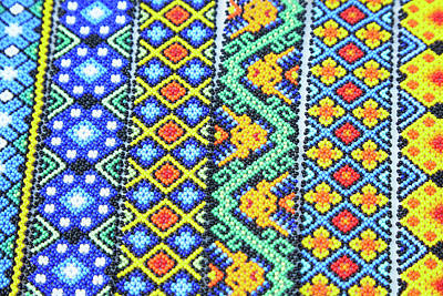 Colorful Beads Photograph - Mexico, Jalisco Colorful Beaded by Jaynes Gallery
